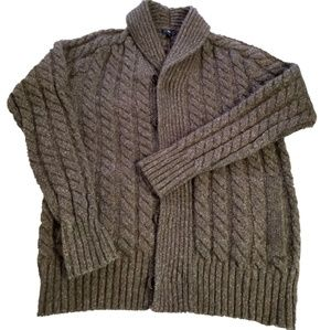 GAP Chunky Cable Knit Button Sweater